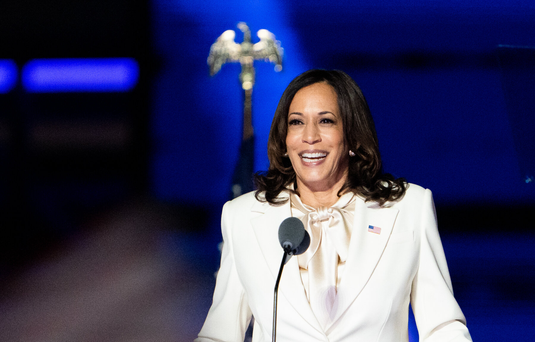 KAMALA HARRIS: Makes history as the first woman of color